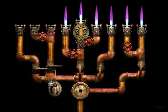 Steampunk   Plumbing   Lighting The Menorah By Michael Savad
