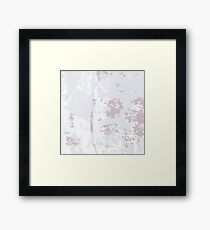 Grey Grunge Background.  Grey Old Grunge  Pattern. Grey Rusty Texture. Framed Print