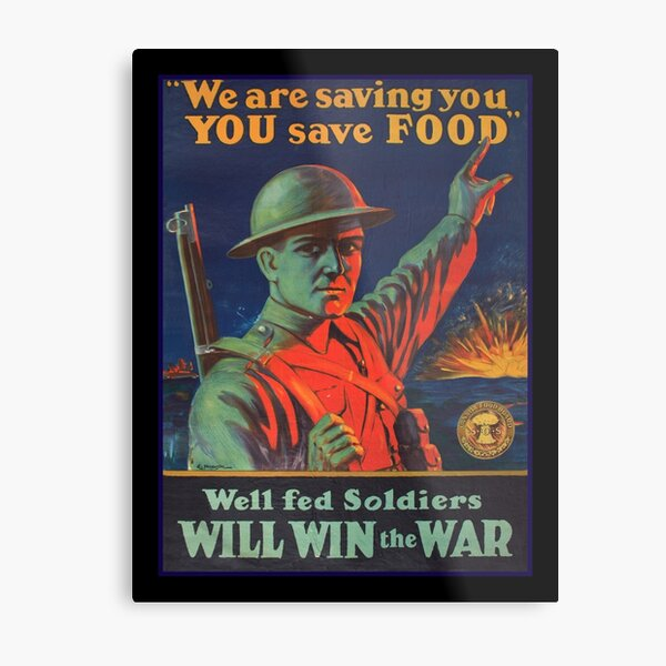 Save Food for Soldiers WW1 Metal Print