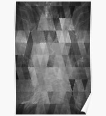 Abstract Summer Flare Greyscale Poster