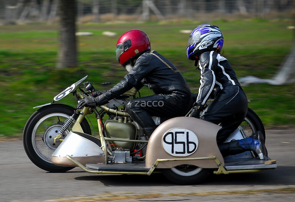 sidecar motorbike timetrial at margam park red bubble meet port talbot by zacco