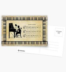 Silhouette Piano Player And Baker Postcards