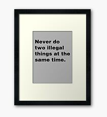Two Illegal Things Framed Print