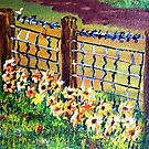 De-Fence of Flowers............. by WhiteDove Studio kj gordon