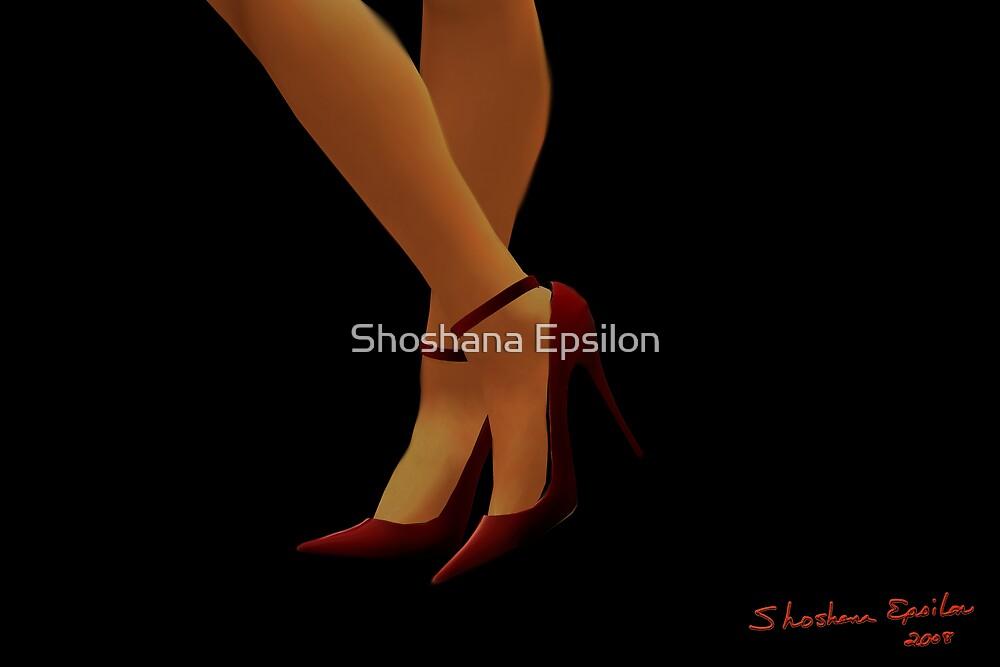 Red Shoes by Shoshana Epsilon
