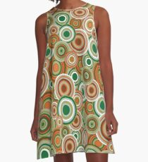 Retro 70s circles A-Line Dress