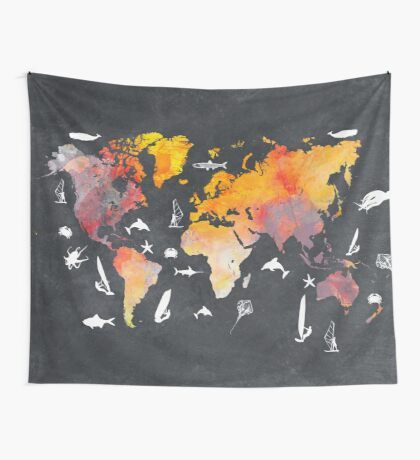world map 101  #worldmap #map  Wall Tapestry