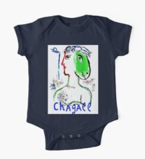 CHAGALL: Vintage Woman Horse Art Print One Piece - Short Sleeve