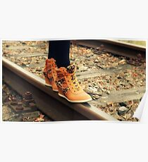 Walking On A Railroad  Poster