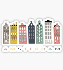 Amsterdam colorful canal houses Sticker