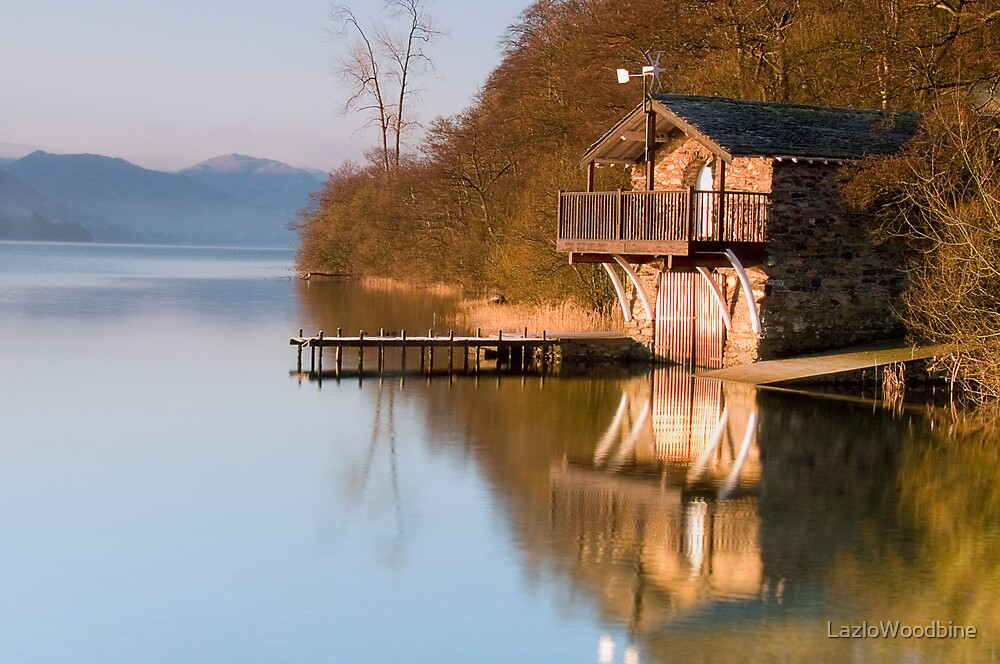 Ullswater Boathouse at Dawn by LazloWoodbine
