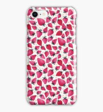 Watercolor Strawberries and Blossoms iPhone Case/Skin