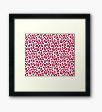 Watercolor Strawberries and Blossoms Framed Print