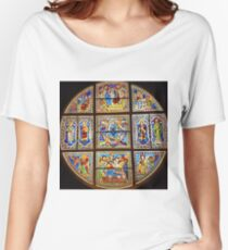 Stained glass 15. Women's Relaxed Fit T-Shirt