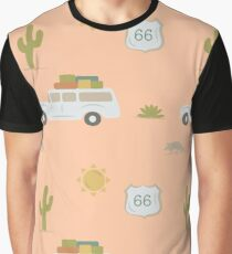 Road Trippin' in Peach Graphic T-Shirt