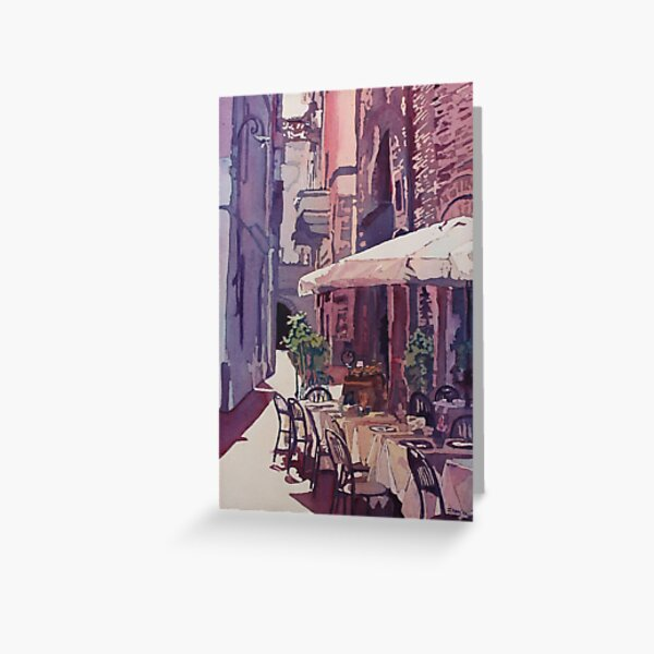 Lucca Cafe Greeting Card
