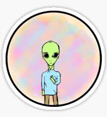 Trippy Alien Sticker