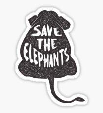 Rette die Elefanten Sticker