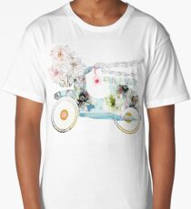 Summer Fashionista Moped Style  Long T-Shirt
