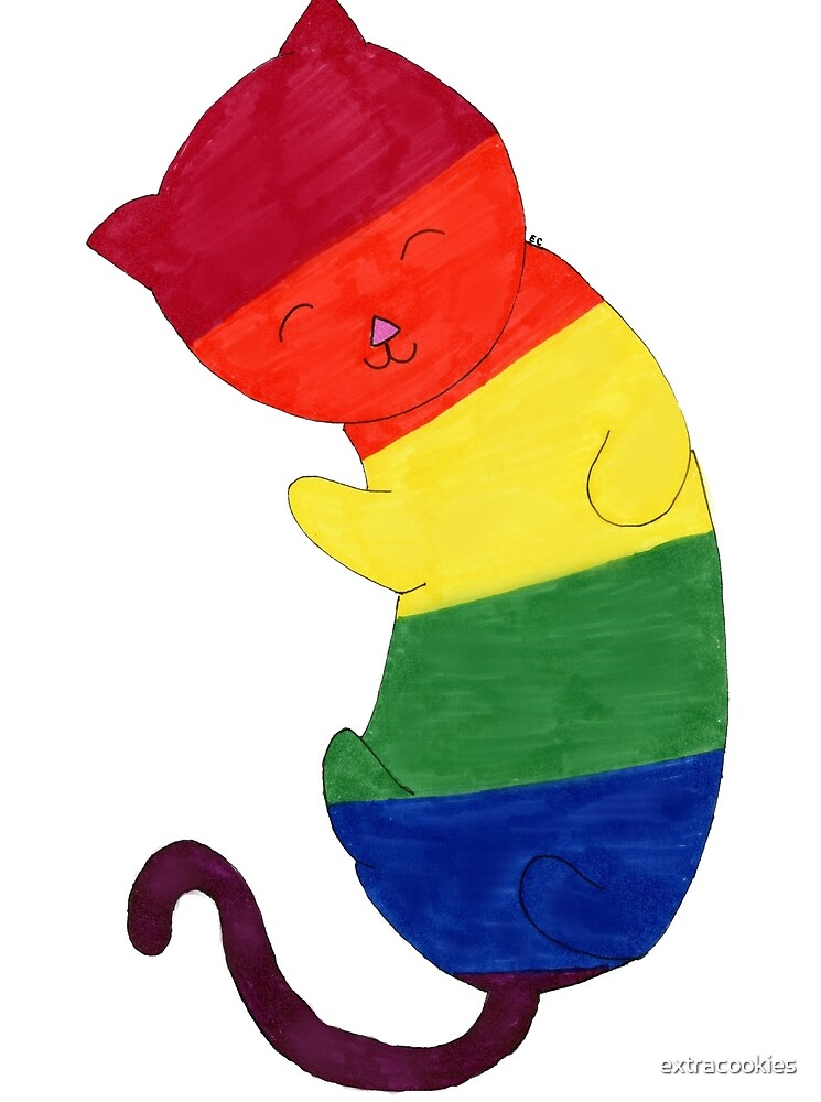 Gay/Lesbian Pride Cat by extracookies