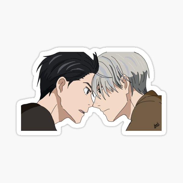 Yuri and Victor/Viktor - Head Bump Sticker