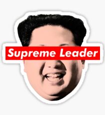 Supreme Leader Un - Kim Jong Un Parody T-Shirt Sticker