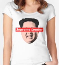Supreme Leader Un - Kim Jong Un Parody T-Shirt Women's Fitted Scoop T-Shirt