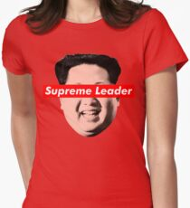 Supreme Leader Un - Kim Jong Un Parody T-Shirt Womens Fitted T-Shirt