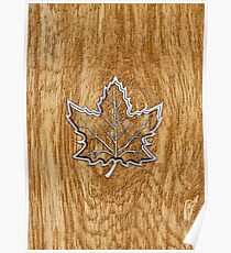 Sugar Maple Leaf in Style Poster
