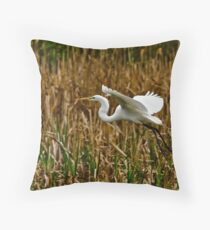 Great American Egret Throw Pillow