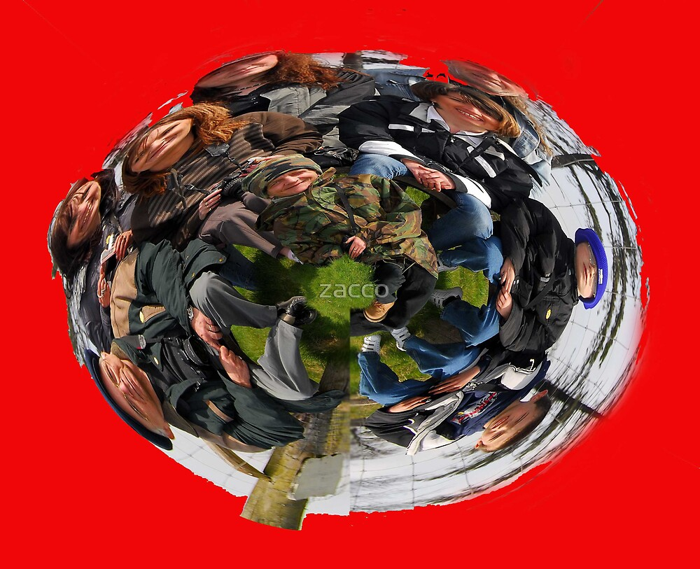 red bubble people polarpano planet  by zacco