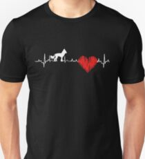 Special Chinese Crested Heartbeat Dog T-shirt  Unisex T-Shirt