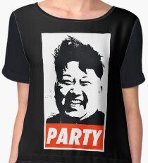 Kim Jong Un PARTY Women's Chiffon Top