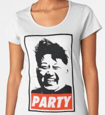 Kim Jong Un PARTY Women's Premium T-Shirt