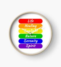 LGBT Flag Color Meanings Clock