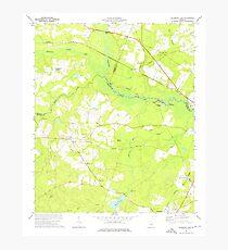 USGS TOPO Map Georgia GA Colemans Lake 245364 1973 24000 Photographic Print