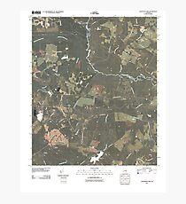 USGS TOPO Map Georgia GA Colemans Lake 20110311 TM Photographic Print