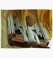Organ Pipes, Truro Cathedral Poster