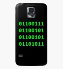 Geek in Binary Code - Retro Funny Coding Programmer clothing Case/Skin for Samsung Galaxy