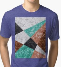 Marble Geometric Background G434 Tri-blend T-Shirt