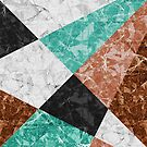 Marble Geometric Background G434 by MEDUSA GraphicART