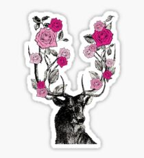The Stag and Roses Sticker