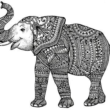 Mandala Elephant by ivysanchez