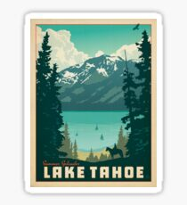 lake tahoe vintage decal Sticker