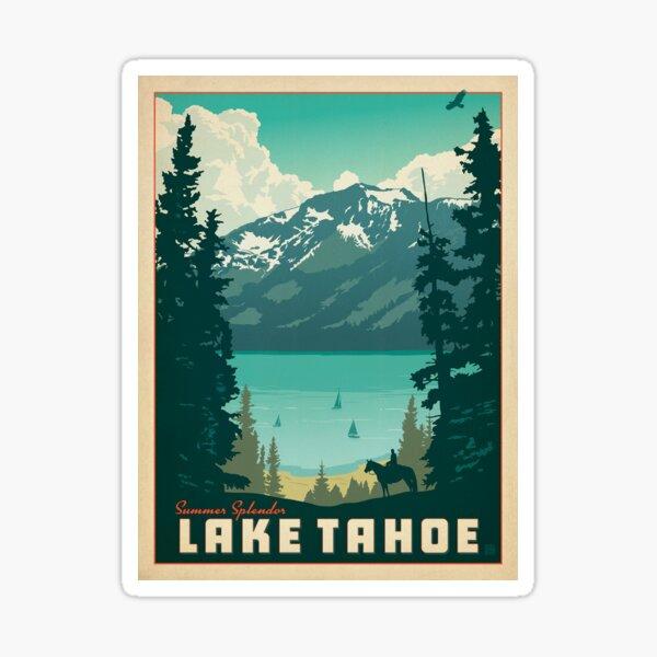 lake tahoe vintage decal Sticker