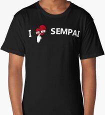 I love Sempai (white) - Megane Long T-Shirt