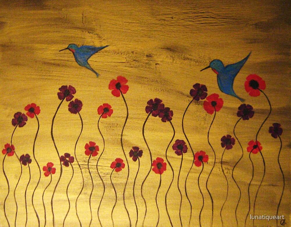 Field of Poppies by lunatiqueart