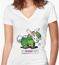 TRIHARETOPS™ Women's Fitted V-Neck T-Shirt
