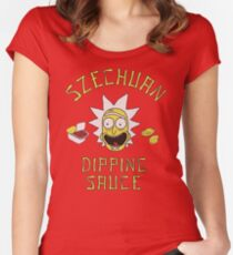 Rick and Morty Szechuan Sauce Women's Fitted Scoop T-Shirt