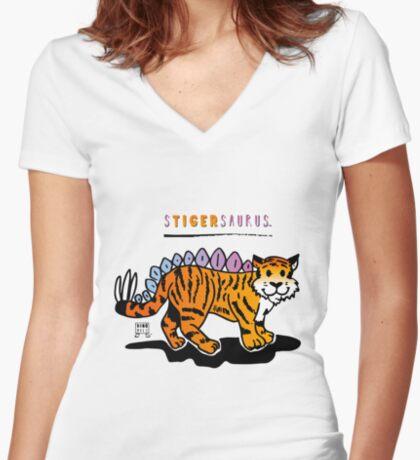 STIGERSAURUS™ Fitted V-Neck T-Shirt